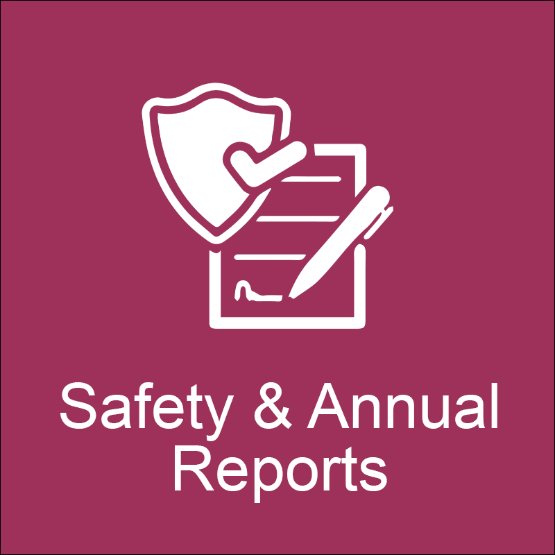Safety & annual reports icon